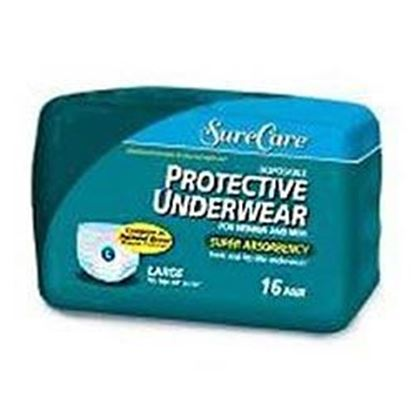"Picture of Sure Care™ Protective Underwear, X-Large 48"" - 66"", Heavy Absorbency, 14/bag"
