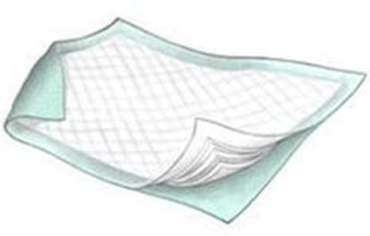"Picture of Sure Care™ Underpad, 23"" x 24"", Light Absorbency, Light Blue"