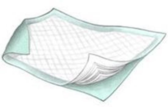 """Picture of Sure Care™ Underpad, 23"""" x 24"""", Light Absorbency, Light Blue"""