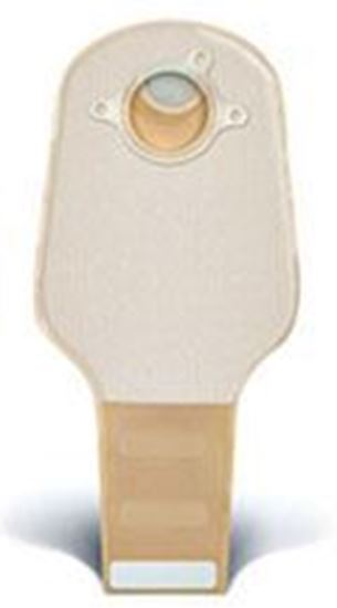 """Picture of Two Piece System Drainable 12"""" Pouch,  2¾"""" Flange, Clip, Filter, Box/20, Opaque"""