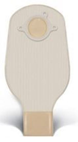 """Picture of Two Piece System Drainable 12"""" Pouch, 2¼"""" Flange, Clip, Box/10, Opaque"""