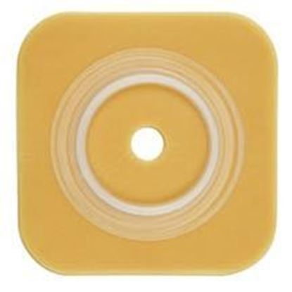 "Picture of Durahesive® Skin Barrier, 1 3/8-1¾"" Cut-to-Fit, 2¼"" Flange, No Tape, Box/10, Tan"