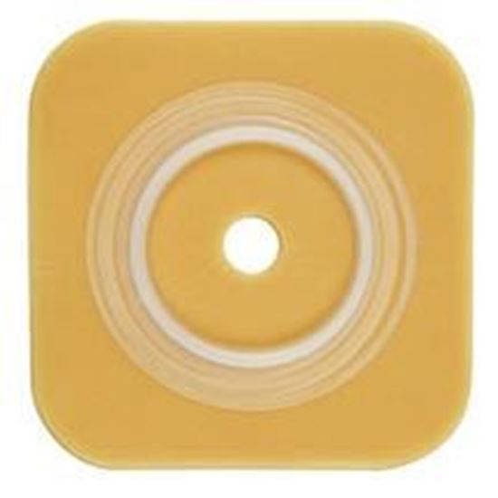 """Picture of Durahesive® Skin Barrier, 1 7/8-2¼"""" Cut-to-Fit, 2½"""" Flange, No Tape, Box/10, Tan"""