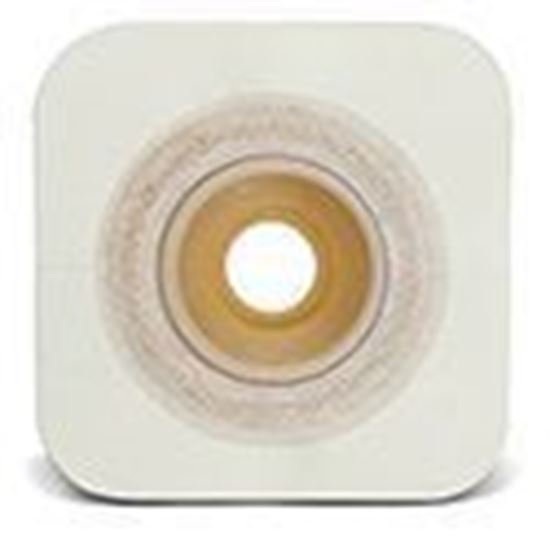 """Picture of Durahesive® CONVEX-IT® Skin Barrier, 1 3/16"""" Pre-Cut, 1¾"""" Flange, Tape, Box/10, White"""