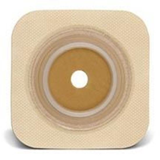 "Picture of Stomahesive® Flexible Skin Barrier, ¾"" Pre-Cut, 1¾"" Flange, Tape, Box/10, Tan"