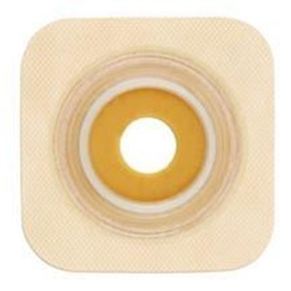 "Picture of Stomahesive® Flexible Skin Barrier, 1 3/8"" Pre-Cut, 1¾"" Flange, Tape, Box/10, Tan"