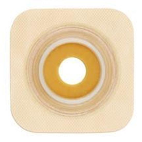 """Picture of Stomahesive® Flexible Skin Barrier, 1 3/8"""" Pre-Cut, 1¾"""" Flange, Tape, Box/10, Tan"""