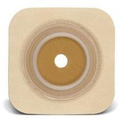 """Picture of Stomahesive® Flexible Skin Barrier, 1½"""" Pre-Cut, 2¼"""" Flange, Tape, Box/10, Tan"""