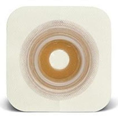 "Picture of Durahesive® Skin Barrier, ½-7/8"" Mold-to-Fit Stoma, 1¾"" Flange, Tape, White"