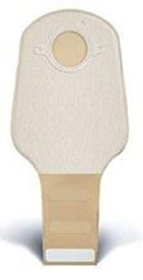 """Picture of Two Piece System Drainable 12"""" Pouch, 2¼"""" Flange, InvisiClose®, Opaque"""