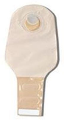 "Picture of Two Piece System Drainable 12"" Pouch, 2¼"" Flange, InvisiClose®, Filter, Opaque"