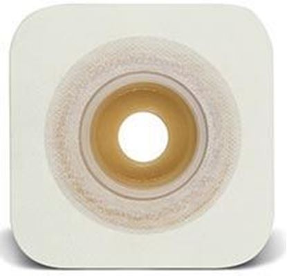 "Picture of Stomahesive® Skin Barrier, 1¼-1¾"" Mold-to-Fit Stoma, 2¼"" Flange, Tape, White"
