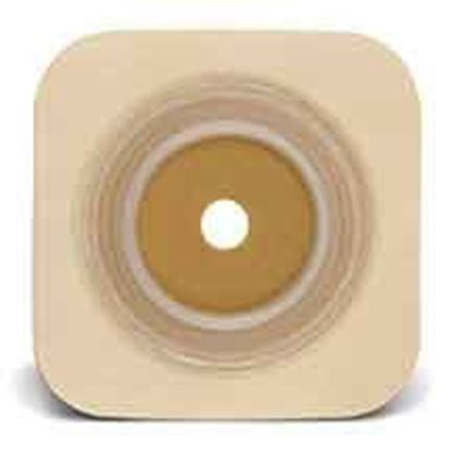 """Picture of Stomahesive® Skin Barrier, ½-¾"""" Cut-to-Fit, 1¼"""" Flange,  Flexible Collar, Tan"""