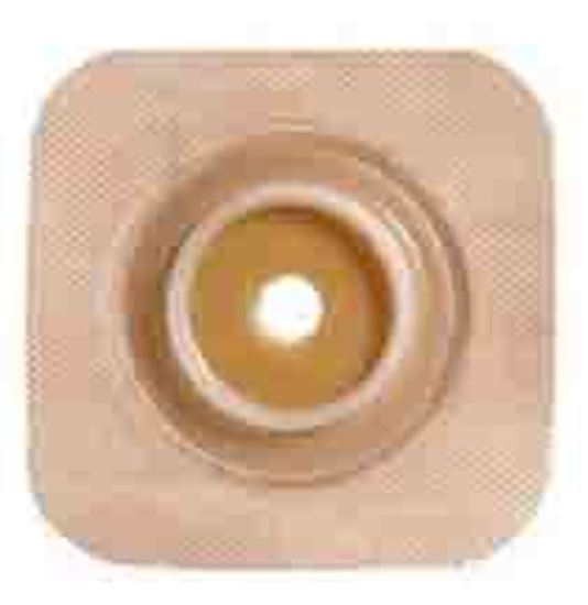 "Picture of Stomahesive® Skin Barrier, 7/8-1"" Cut-to-Fit, 1½"" Flange, Flexible Collar, Tan"