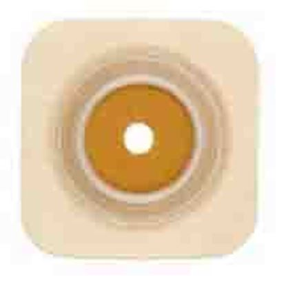 "Picture of Stomahesive® Skin Barrier, 1 1/8-1¼"" Cut-to-Fit, 1¾"" Flange, Flexible Collar, Tan"
