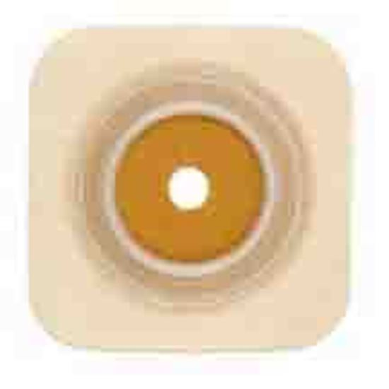 """Picture of Stomahesive® Skin Barrier, 1 1/8-1¼"""" Cut-to-Fit, 1¾"""" Flange, Flexible Collar, Tan"""