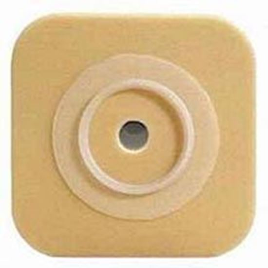"""Picture of Stomahesive® Skin Barrier, 1 1/8-1¼"""" Cut-to-Fit, 2¼"""" Flange, No Tape, Box/10, Tan"""
