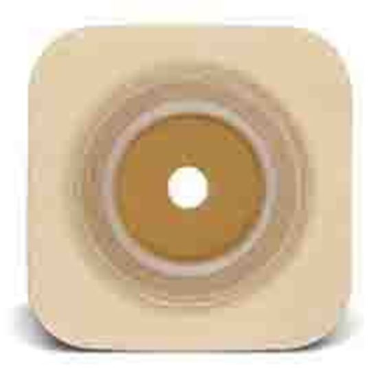 "Picture of Stomahesive® Flexible Skin Barrier, 1 3/8-1¾"" Cut-to-Fit, 2¼"" Flange, Tape, Tan"
