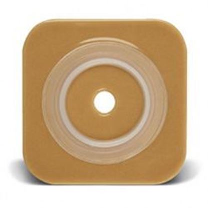 """Picture of Stomahesive® Flexible Skin Barrier, 1 7/8-2¼"""" Cut-to-Fit, 2¾"""" Flange, Tape, Tan"""