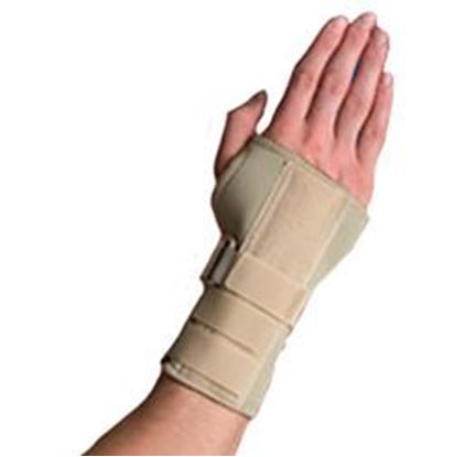 Picture of Thermoskin® Carpal Tunnel Brace with Dorsal Stay, Beige, L, Left
