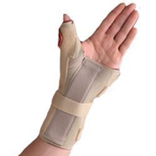 Picture of Thermoskin® Carpal Tunnel Brace with Thumb Spica, Beige, S, Left