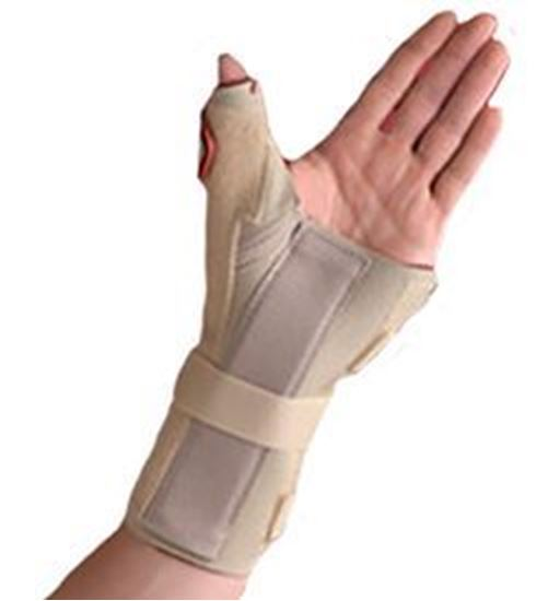 Picture of Thermoskin® Carpal Tunnel Brace with Thumb Spica, Beige, XS/S, Left