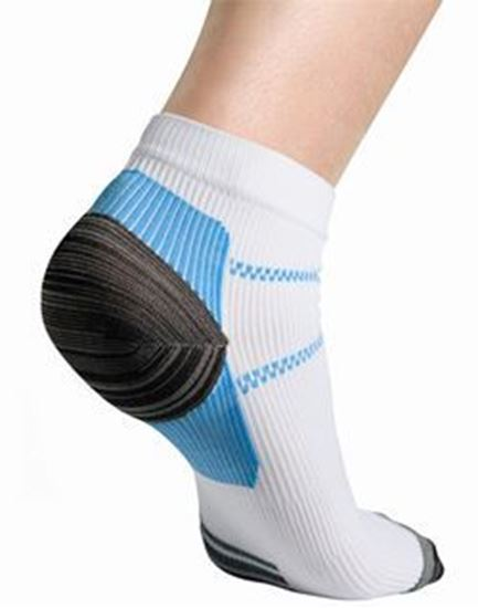Picture of Thermoskin® FXT Compression Socks, White, L, 2 Socks/Pair