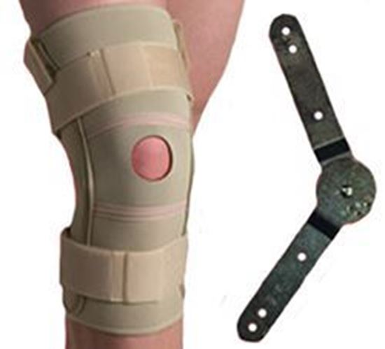 Picture of Thermoskin® Hinged Knee Brace ROM (Range of Motion), Beige, L
