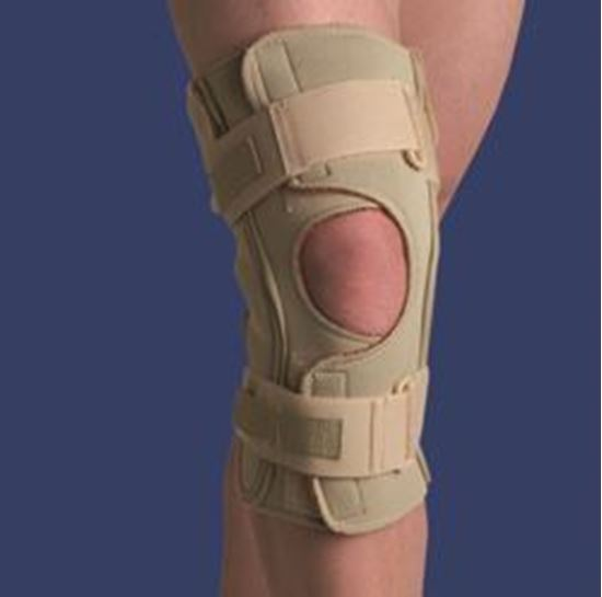 Picture of Thermoskin® Hinged Knee Brace Single Pivot, Beige, L