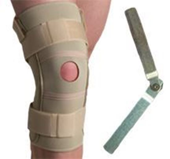 Picture of Thermoskin® Hinged Knee Brace Single Pivot, Beige, XL
