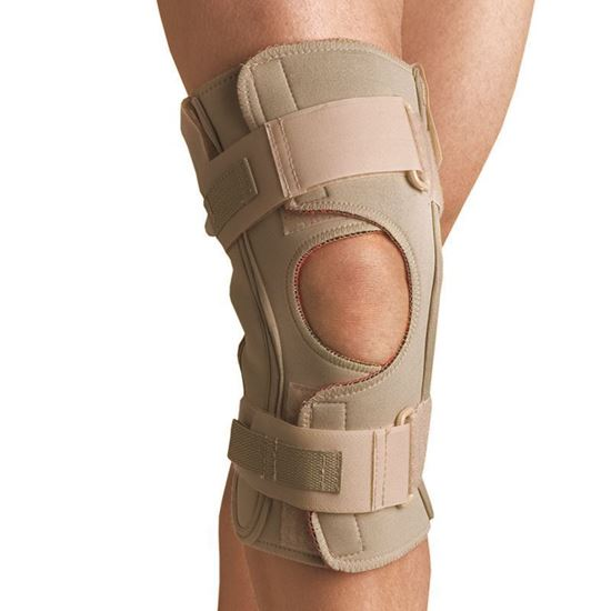 Picture of Thermoskin® Hinged Knee Wrap Dual Pivot, Beige, 4X-Large