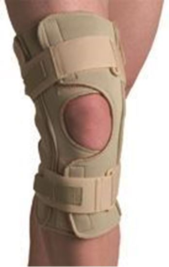 Picture of Thermoskin® Hinged Knee Wrap Dual Pivot, Beige, Medium
