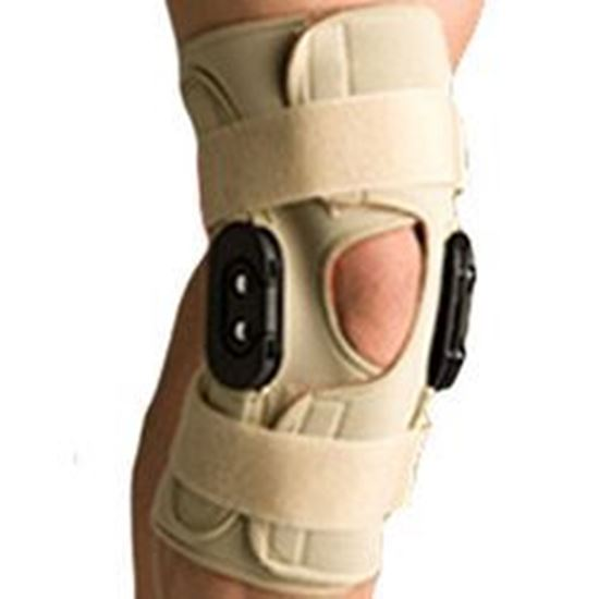 Picture of Thermoskin® Hinged Knee Wrap Flexion / Extension, Beige, L