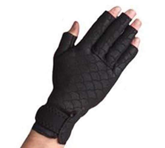 Picture of Thermoskin® Premium Arthritis Gloves, Black, M, Pair