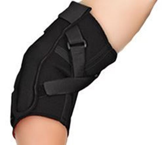 Picture of Thermoskin® Range of Motion (ROM) Hinged Elbow, Black, 2XL
