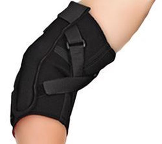 Picture of Thermoskin® Range of Motion (ROM) Hinged Elbow, Black, S