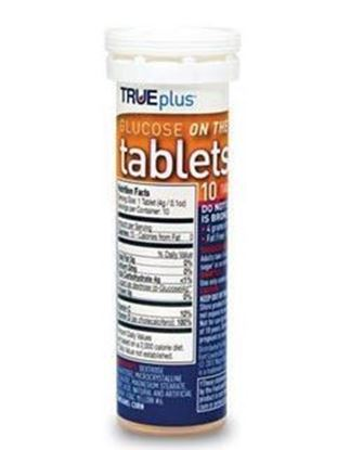 Picture of TRUEplus® Glucose Tablets, Orange, 10ct