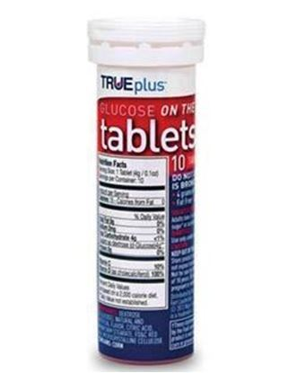 Picture of TRUEplus® Glucose Tablets, Raspberry, 10ct