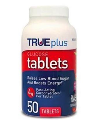 Picture of TRUEplus® Glucose Tablets, Raspberry, 50ct