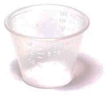 Picture of Unbreakable Transparent Medicine Cup, Polypropylene, 1 oz