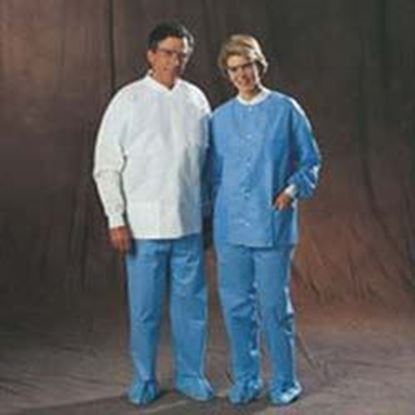 Picture of Universal Precautions Lab Jacket by Halyard Health, Disposable, White, Small, Non-Sterile, Case/25