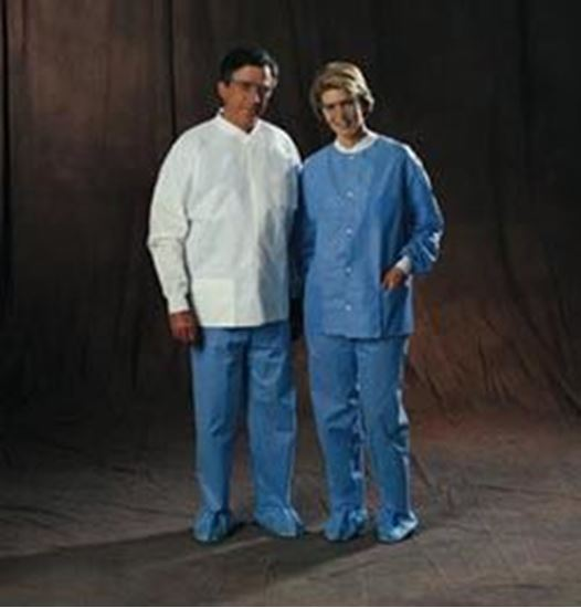 Picture of Universal Precautions Lab Jacket by Halyard Health, Disposable, White, X-Large, Non-Sterile, Case/25