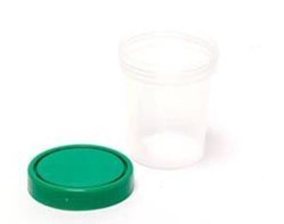 Picture of Urine Specimen Containers, Screw-On Lid, 4 oz, Non-Sterile