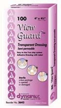 """Picture of View Guard® Transparent Dressings, 4"""" x 4 3/4"""", Sterile"""
