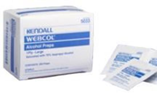Picture of Webcol™ 2-Ply Alcohol Prep Pad,Large 200 count box