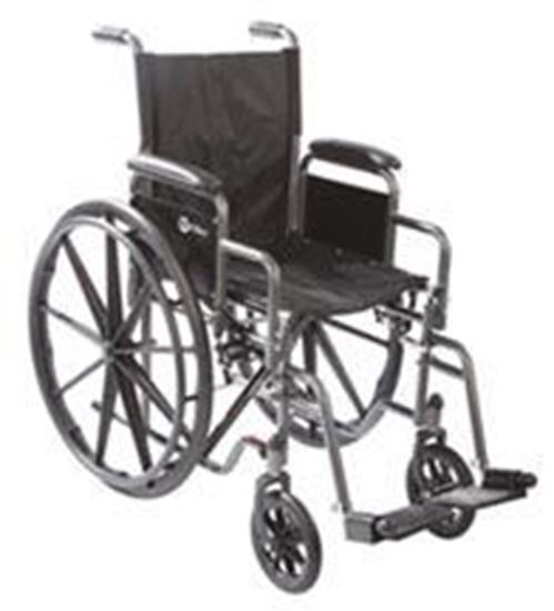 "Picture of Wheelchair 14"", Elevating Legrests"