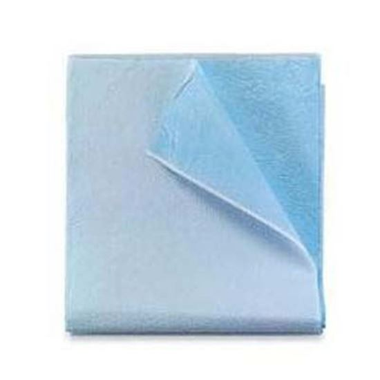 """Picture of Stretcher Sheet, Tissue/Poly - 40"""" x 90"""", Blue"""