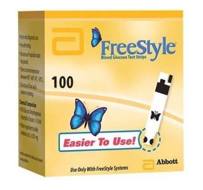 Picture of FreeStyle Blood Glucose Test Strips Retail 100ct