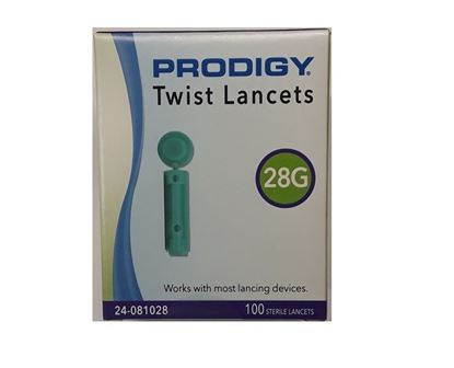 Picture of Prodigy Twist Top Lancets, 28 guage