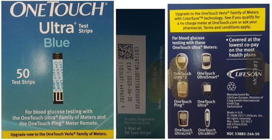 Picture of OneTouch® Ultra® Blood Glucose Test Strip 50ct, Retail